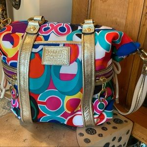 Coach Bag Cross Body Handbag Multi Color  #L1